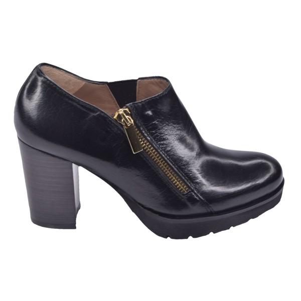 Chaussure, low boots, 4084, Plumers, femme petite pointure, noir, vue profil