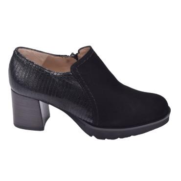 Low Boots Bimatières Daim Noir, 4078, Plumers