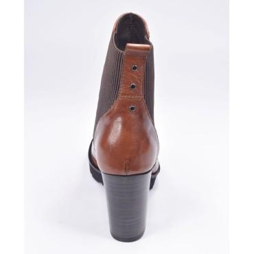 Escarpins bouts pointus, cuir enrobé style tergal, Brenda Zaro, 6.5 cm, LS1406