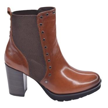 Chaussure, bottines, femme petites pointures, 5178, Plumers, marron, vue profil