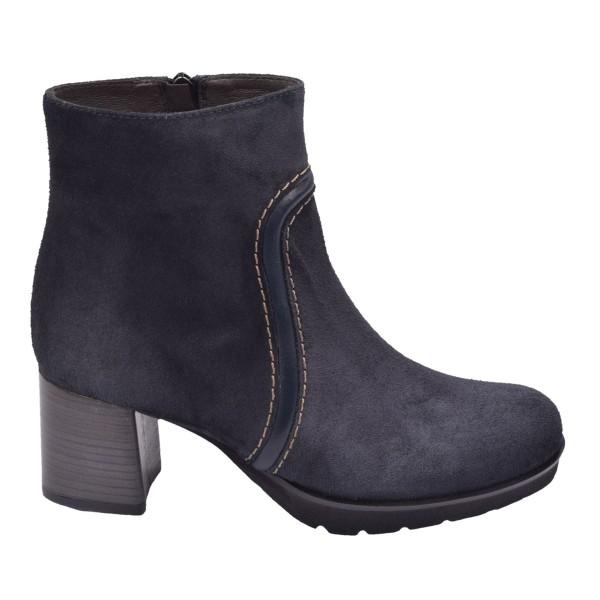 Chaussure, bottines, femme petites pointures, 5149, Plumers, daim, marine, vue profil