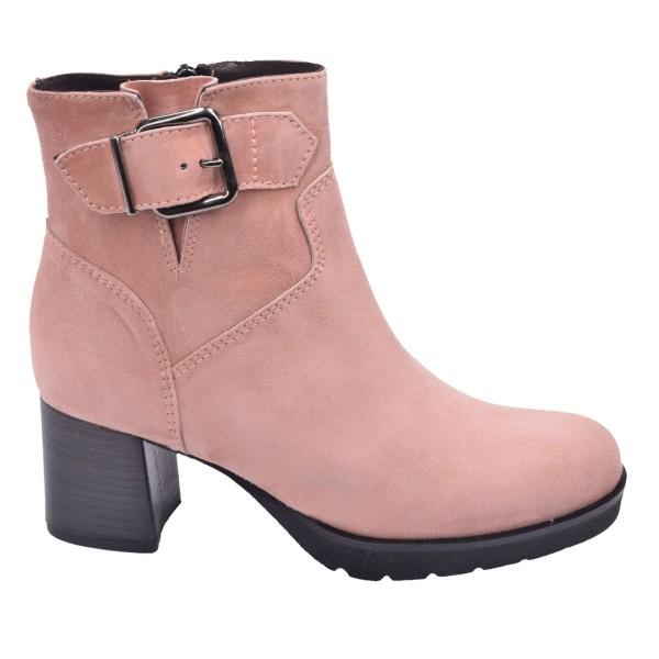Chaussure, bottines, femme petite pointure, 5148, Plumers, rose, vue profil
