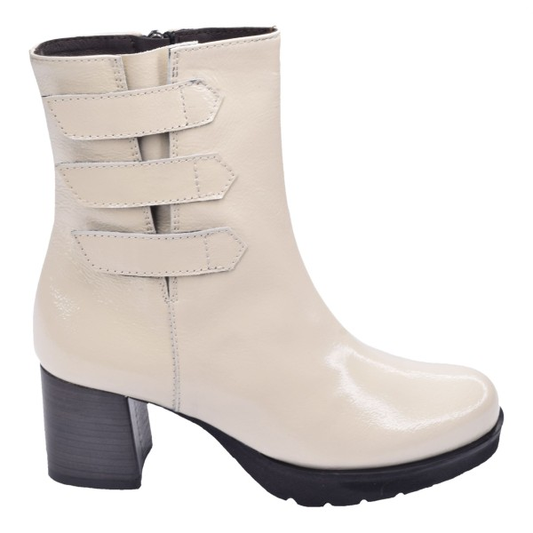 Chaussure, bottines, femme petite pointure, beige, 5151, Plumers, vue profil