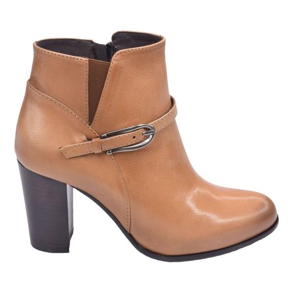 Chaussure, bottines, femme petite pointure, camel, 5189, Plumers, vue profil