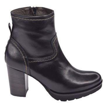 Chaussure, bottines, femme petite pointure, noir, 5180, Plumers, vue profil