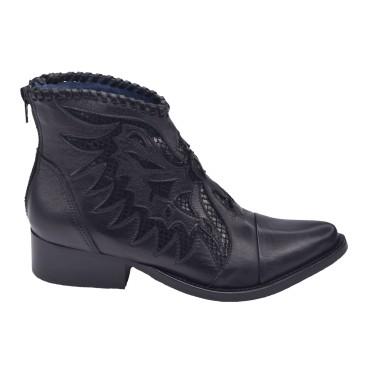 Boots Cuir Lisse Noir, Hyeri, Pierre Cardin