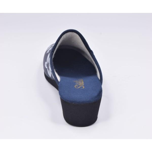 Low boots, talons compensés, cuir daim noir, 4016, Plumers Menorca