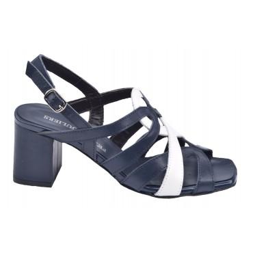 Bottines cuir écaille, Style santiag, python bleu, T3461A, Brenda Zao
