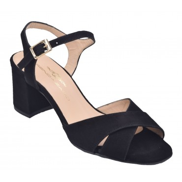 Bottines cuir daim souple noir, Spécial pieds larges et sensibles 195315, PieSanto