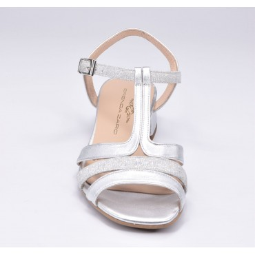 Espadrilles, sandales compensées bout ouvert, cuir lisse blanc, Llivia, Toni Pons, 2020