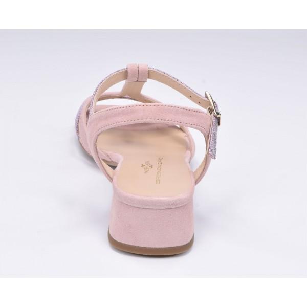 Espadrilles, sandales compensées bout ouvert, cuir lisse marron clair, Llivia, Toni Pons, 2020