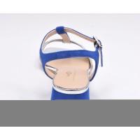 Sandales, petit talon carré daim noir, Altas, Pierre Cardin