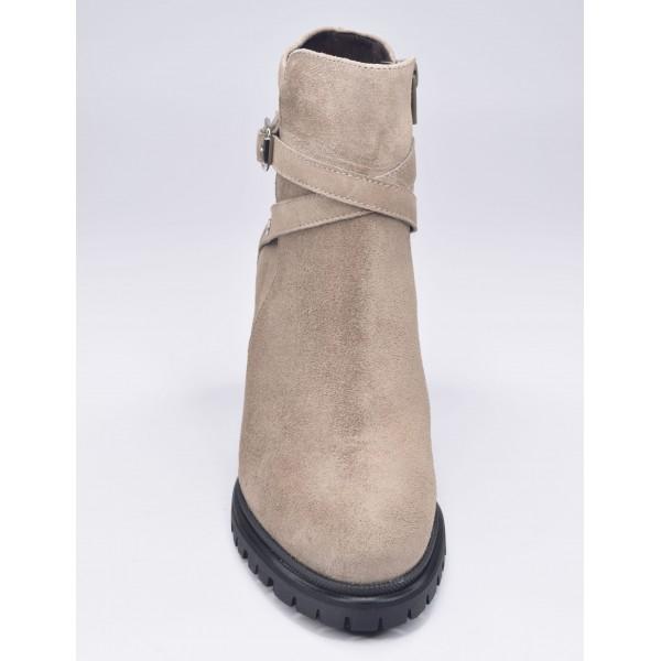 Sandales plateforme, cuir doré brillant, 3118, Plumers