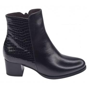 Sandales bride cheville cuir daim noir, 3930, Plumers