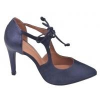 Basket compensées femme, cuir pailleté noir et daim noir 10627, Maria jamy