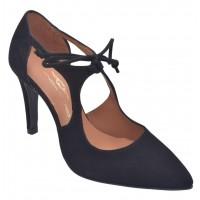 Sandales talons carré liège, cuir fantaisie bulle bleues, F2697B, Brenda Zaro