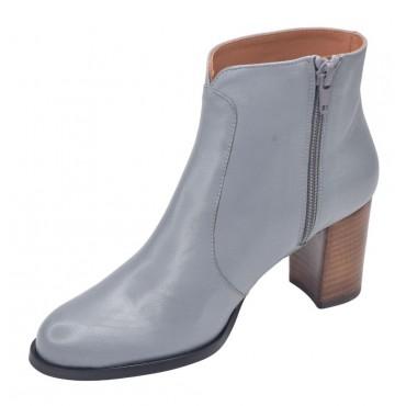 Sandales petits talons carrés, cuir craquelé noir, 3214, Plumers