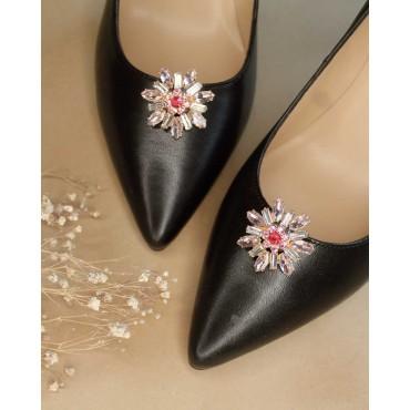 Sandales petits talons carrés, cuir tressé, noir, 3312, Plumers