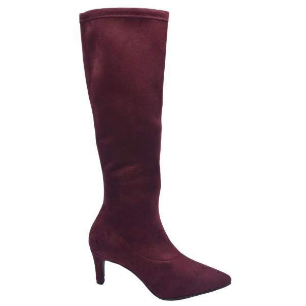 Sandales petits talons carrés, cuir craquelé noir, 3214, Plumers, femme petite pointure