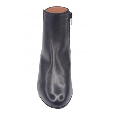 Sandales petits talons carrés, cuir tressé bleu irisé, 3247, Plumers