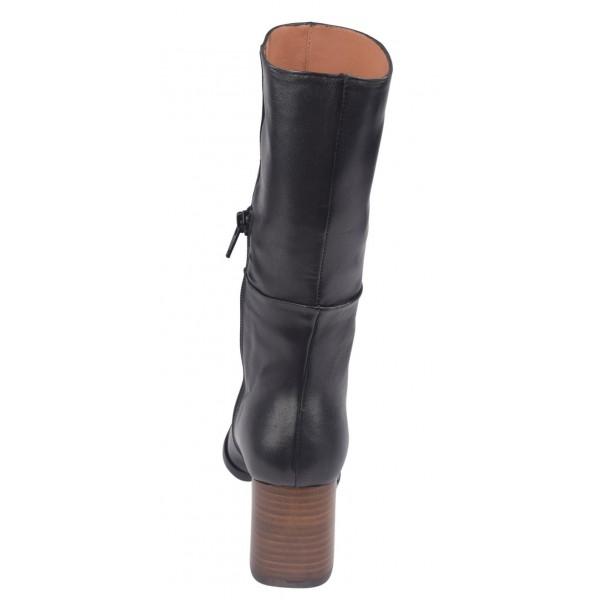 Boots Cuir Lisse Bordeaux, Talon 6 cm, F3492, Brenda Zaro
