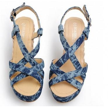 Sandales bleues Erika