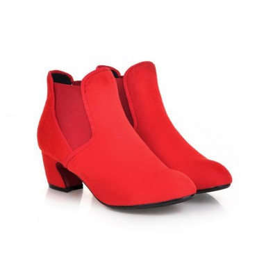 Bottines rouges Teri