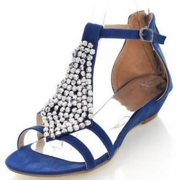 Sandales bleues Cécilia