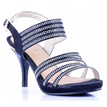 Sandales noires Evane
