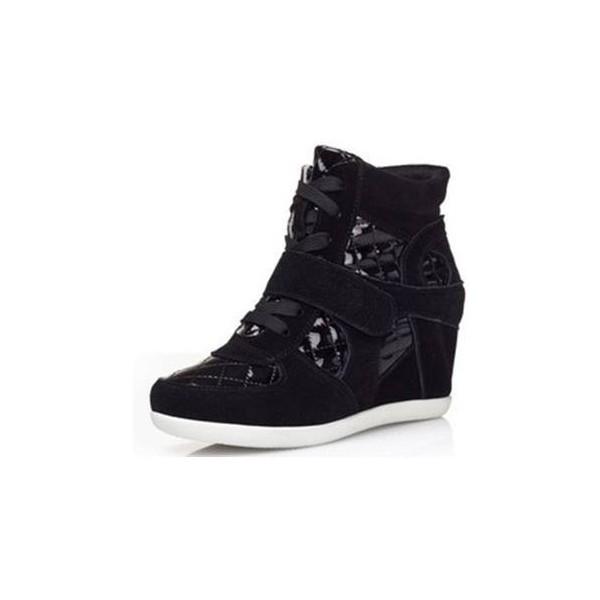 baskets compens es noires roxane pointure 34 et 35 petits souliers. Black Bedroom Furniture Sets. Home Design Ideas