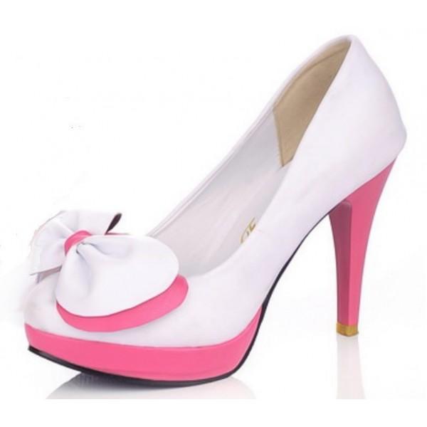 escarpins femmes petites pointures blancs lya petits souliers. Black Bedroom Furniture Sets. Home Design Ideas