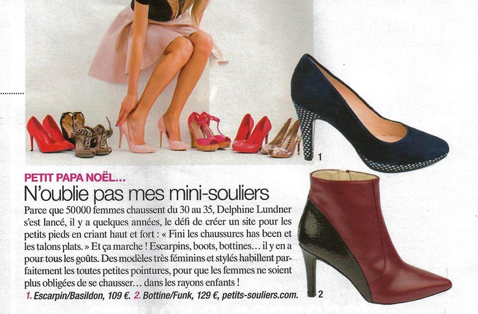 Magazine maxi - la presse parle de Petits Souliers - chaussures femme petite pointures